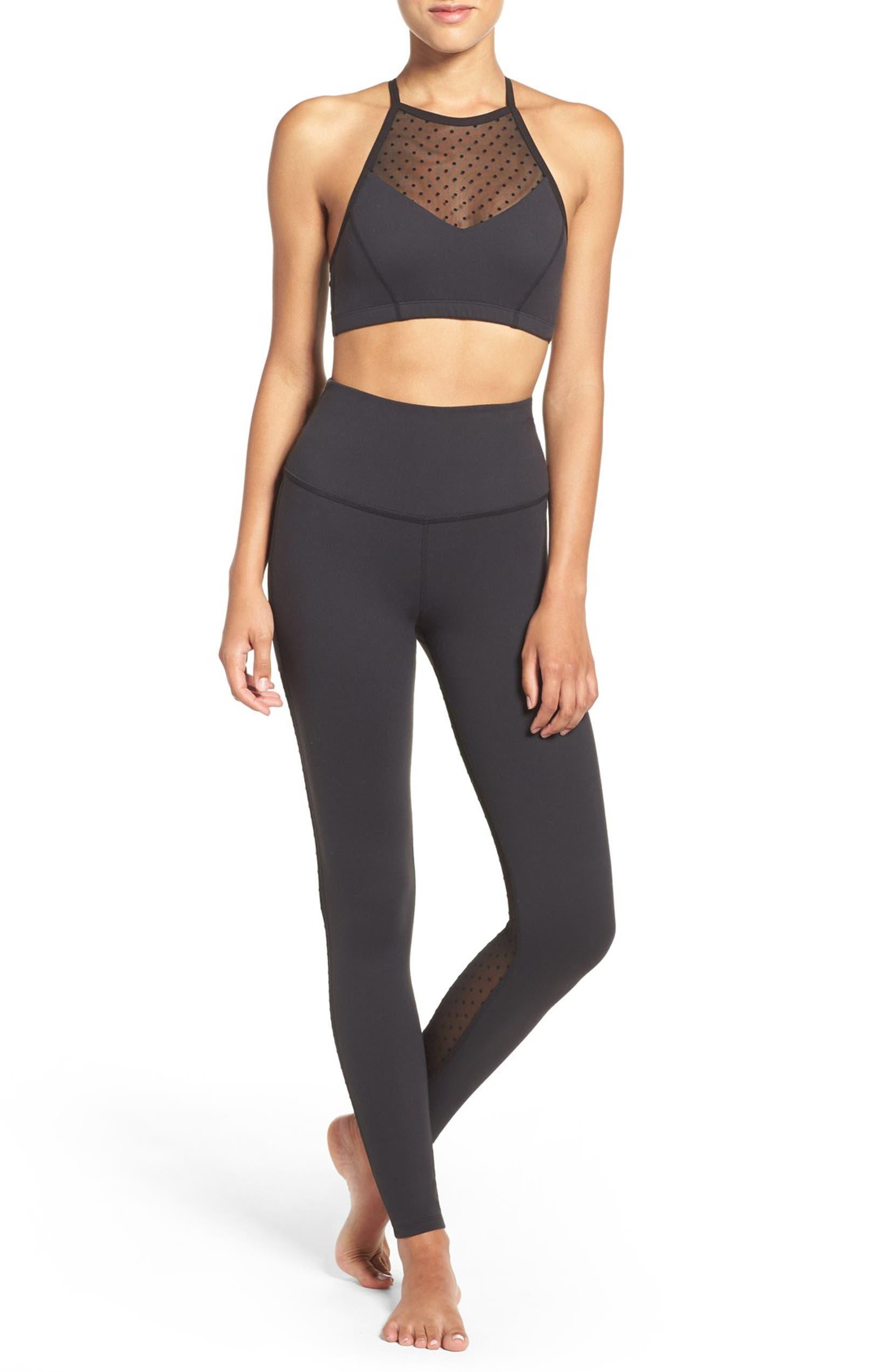 f1dd96d045ca3 Beyond Yoga Polka Dot Mesh Back Leggings | Nordstrom