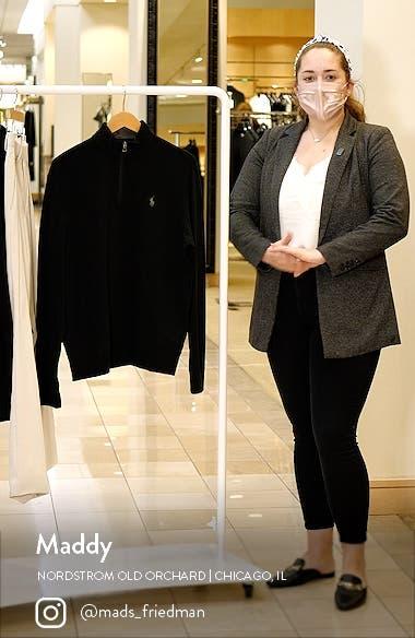Men's Double Knit Jersey Half Zip Pullover, sales video thumbnail