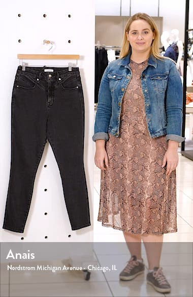 Good Curve High Waist Front Yoke Detail Ankle Skinny Jeans, sales video thumbnail