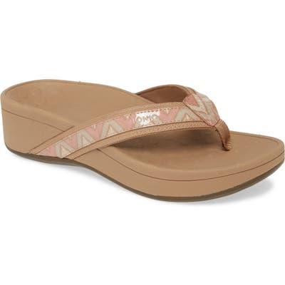 Vionic High Tide Wedge Flip Flop, Pink