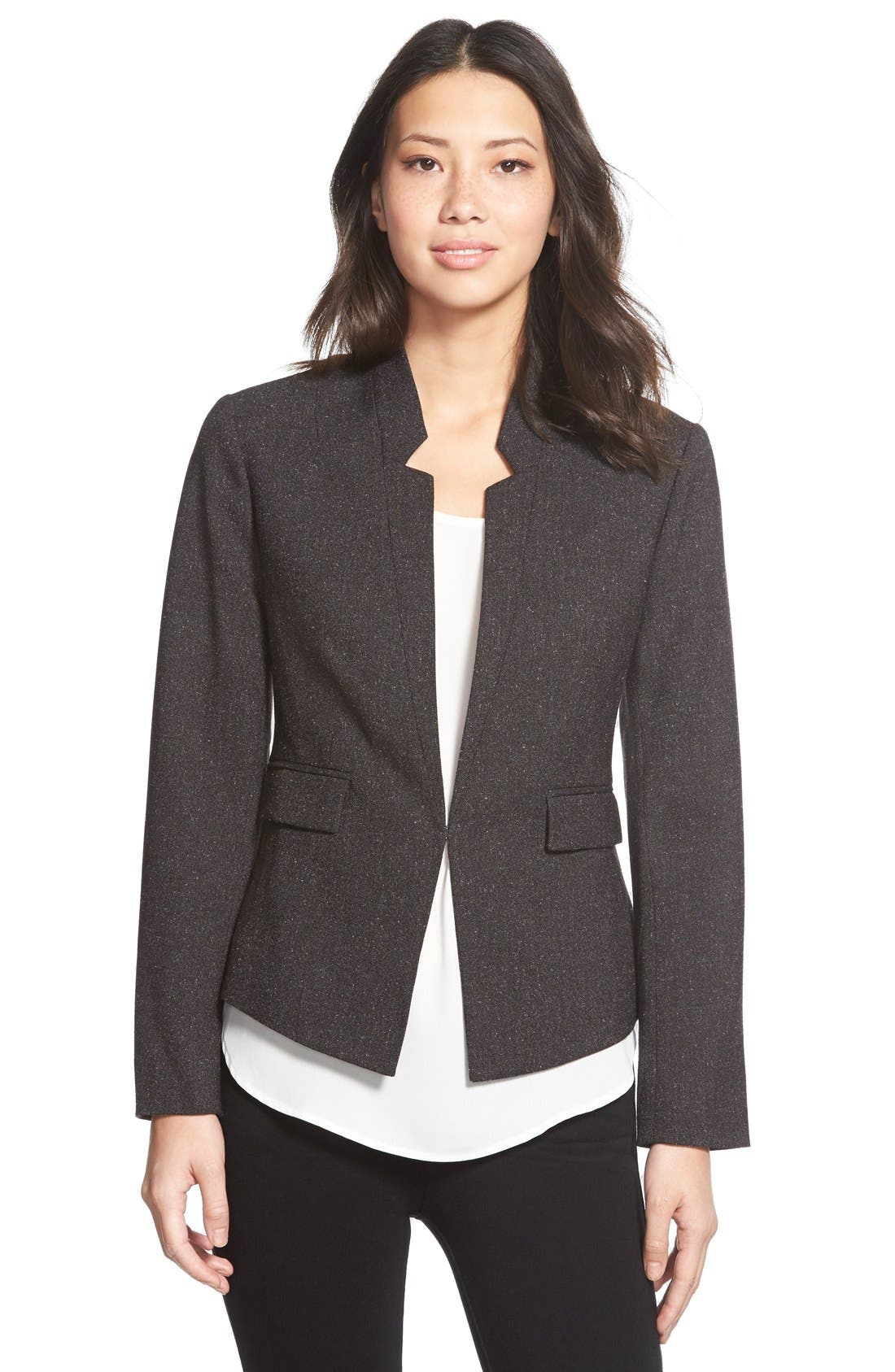 ELLEN TRACY Womens Petite Size Inverted Rever Jacket