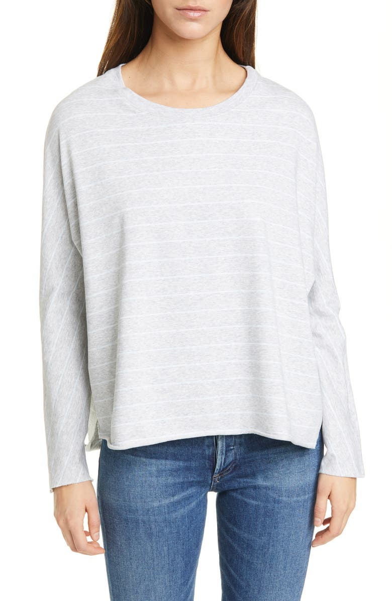 FRANK & EILEEN Continuous Sleeve French Terry Sweatshirt, Main, color, GRYM ARCHIE BLUE MELANGE