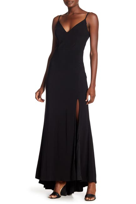 Image of JUMP Plunge V-Neck Jersey Gown