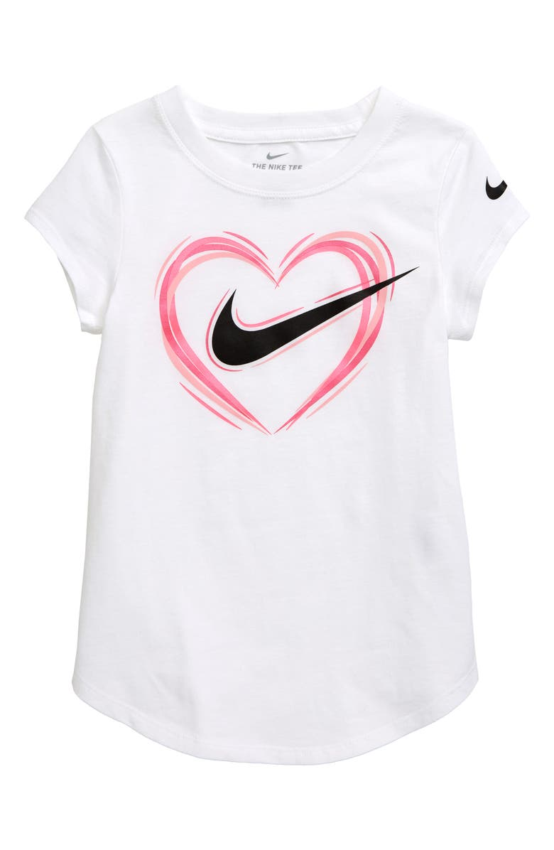 NIKE Stroke Heart Graphic Tee, Main, color, 100