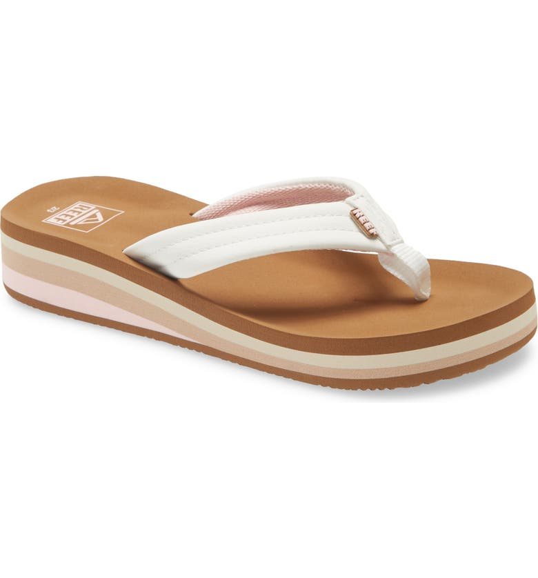 REEF Ahi Water Resistant Wedge Flip Flop, Main, color, CLOUD