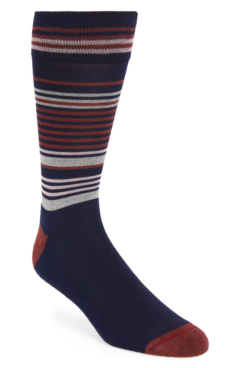 Mens Shop Pencil Stripe Socks 3 For 30