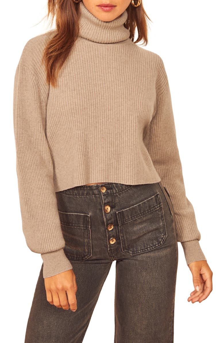 Reformation Luisa Crop Cashmere Blend Sweater | Nordstrom