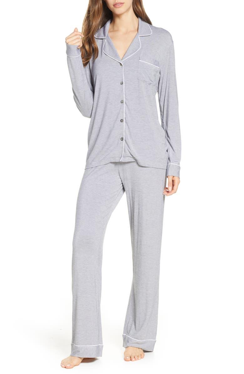 UGG<SUP>®</SUP> Lenon Mini Stripe Jersey Pajamas, Main, color, 016