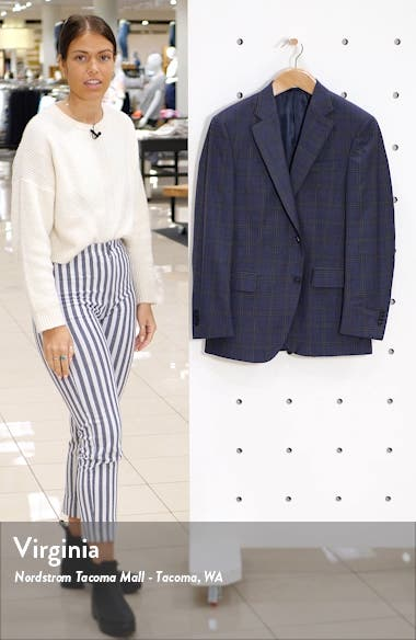 Flynn Plaid Wool Sport Coat, sales video thumbnail