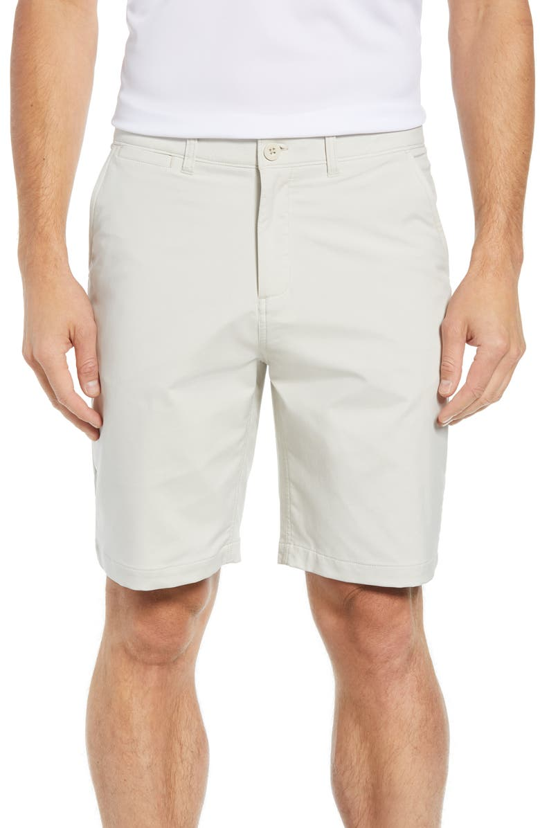 JOHNNIE-O Mulligan Regular Fit Prep-Formance Shorts, Main, color, STONE