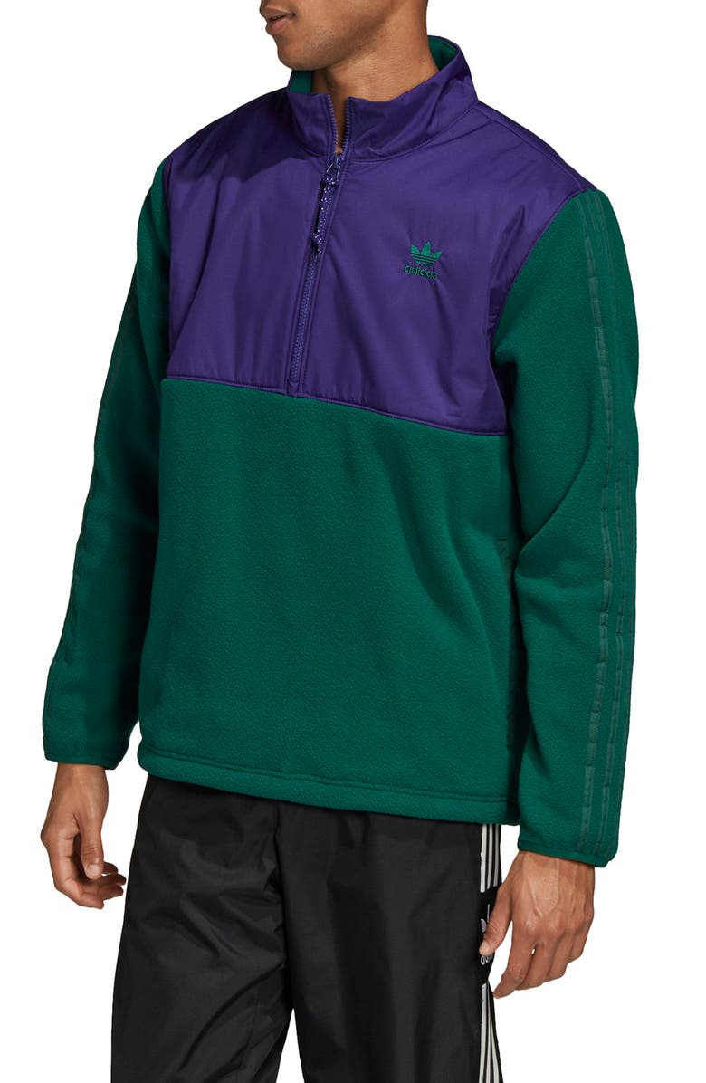 ADIDAS ORIGINALS Speed Pack Fleece Half-Zip Pullover, Main, color, 305