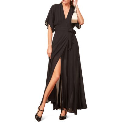 Reformation Winslow Maxi Dress, Black