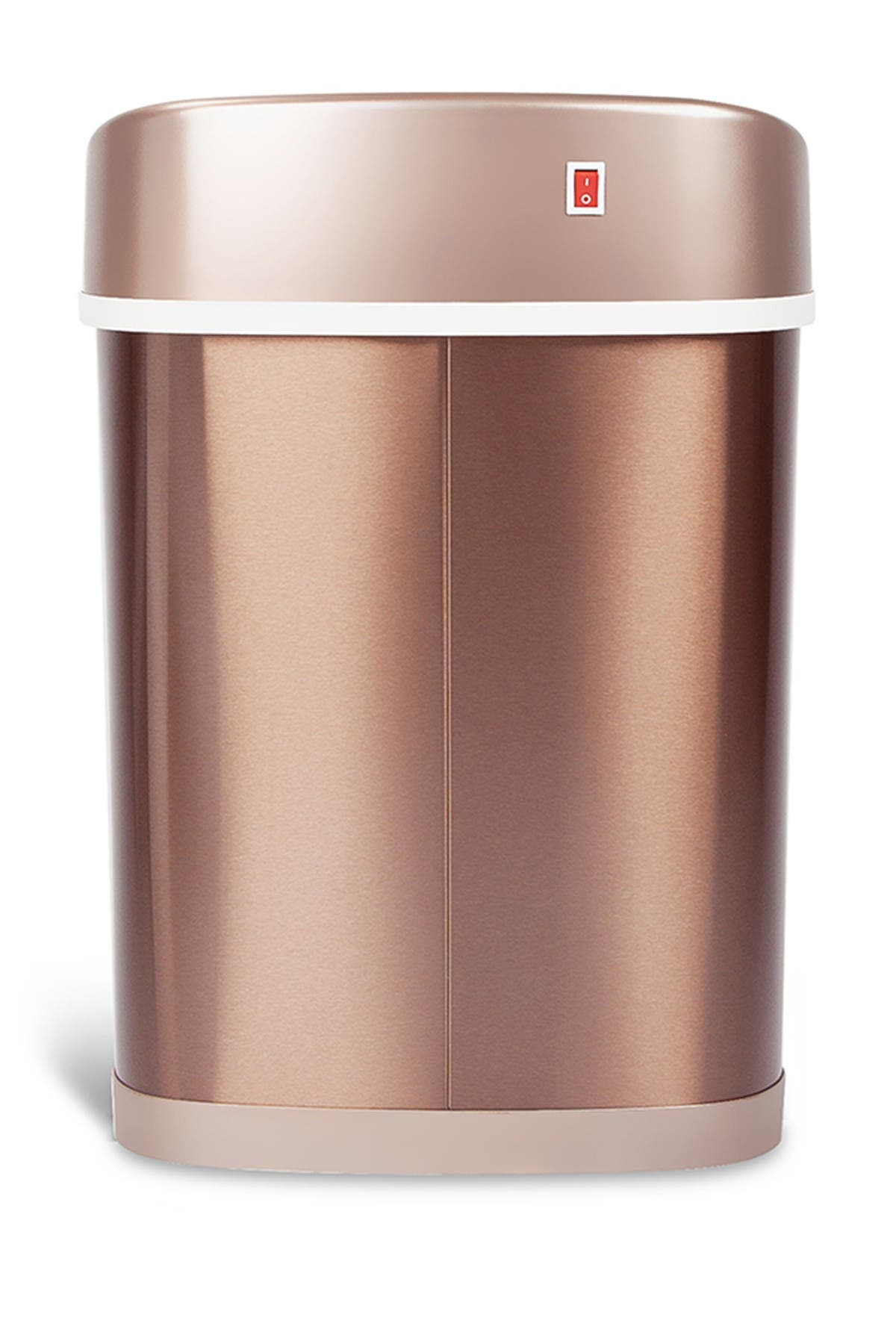 Image of NINESTARS Gold Stainless Steel Motion Sensor Recycle Bin - 18.5 Gallons