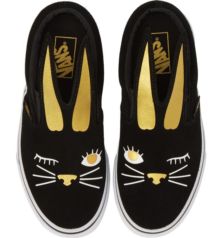 VANS Slip-On Bunny Sneaker, Main, color, 001