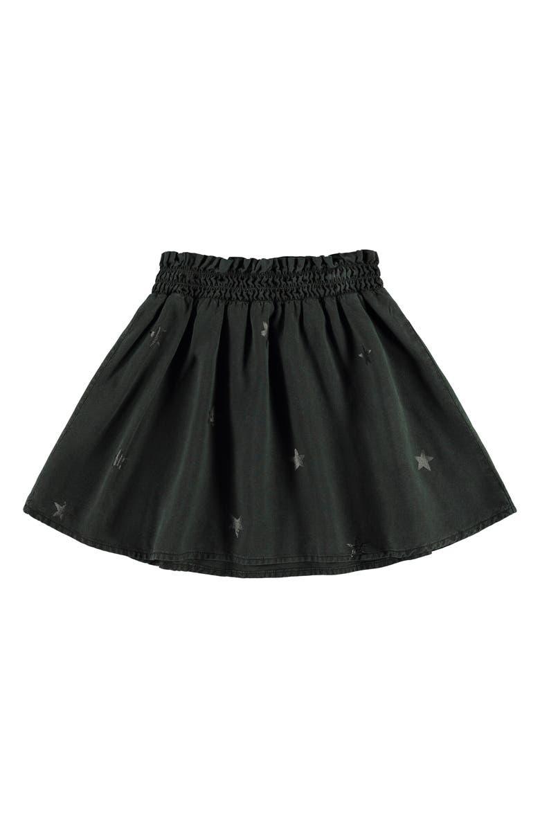 BELLA DAHL Tonal Stars Flared Skirt, Main, color, WASHED BLACK