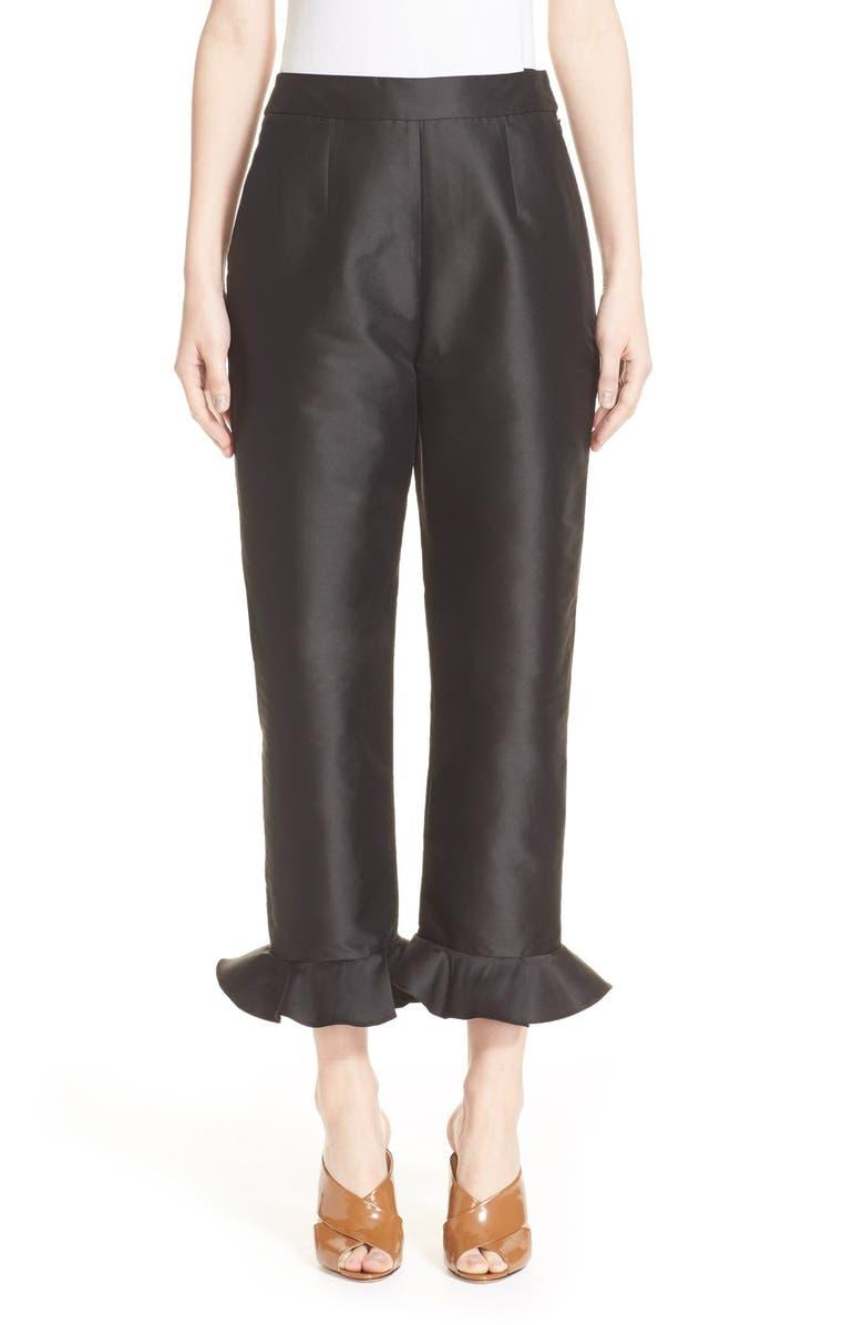 ISA ARFEN Classic Flounce Slim Pants, Main, color, 001