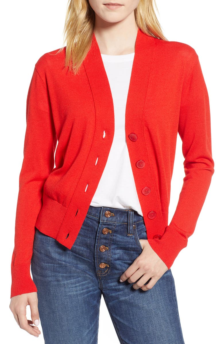J Crew Lightweight Crop Cardigan