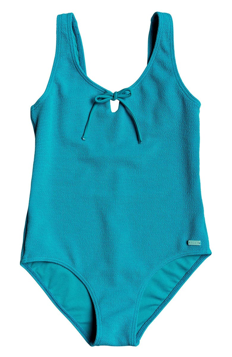 ROXY Sandy Forever One-Piece Swimsuit, Main, color, PAGODA BLUE