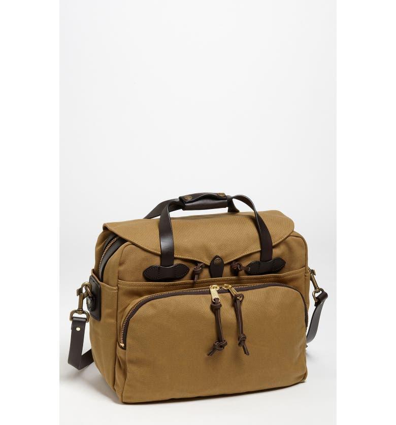 FILSON Padded Laptop Bag, Main, color, DARK TAN
