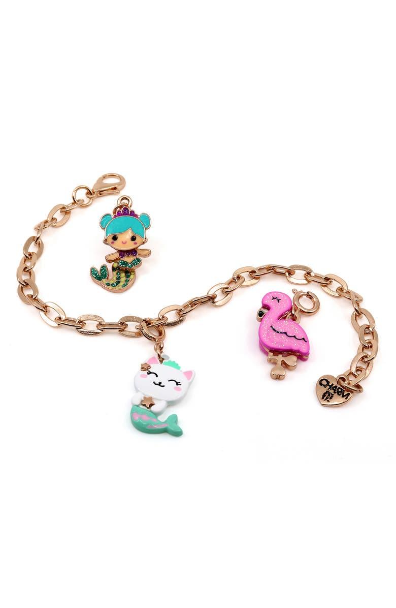 CHARM IT!<SUP>®</SUP> Mermaid Charm Bracelet Gift Set, Main, color, 960
