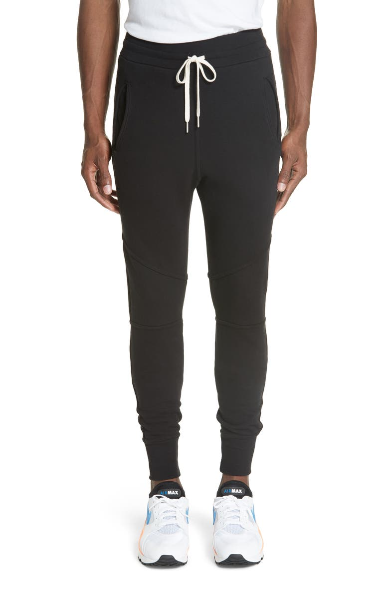 JOHN ELLIOTT Escobar Slim Fit Sweatpants, Main, color, BLACK