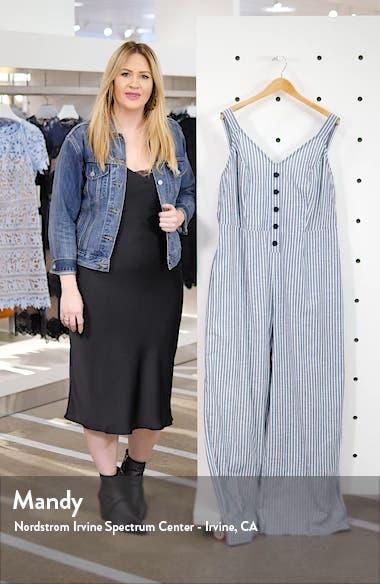 Zarita Stripe Back Tie Cotton Jumpsuit, sales video thumbnail