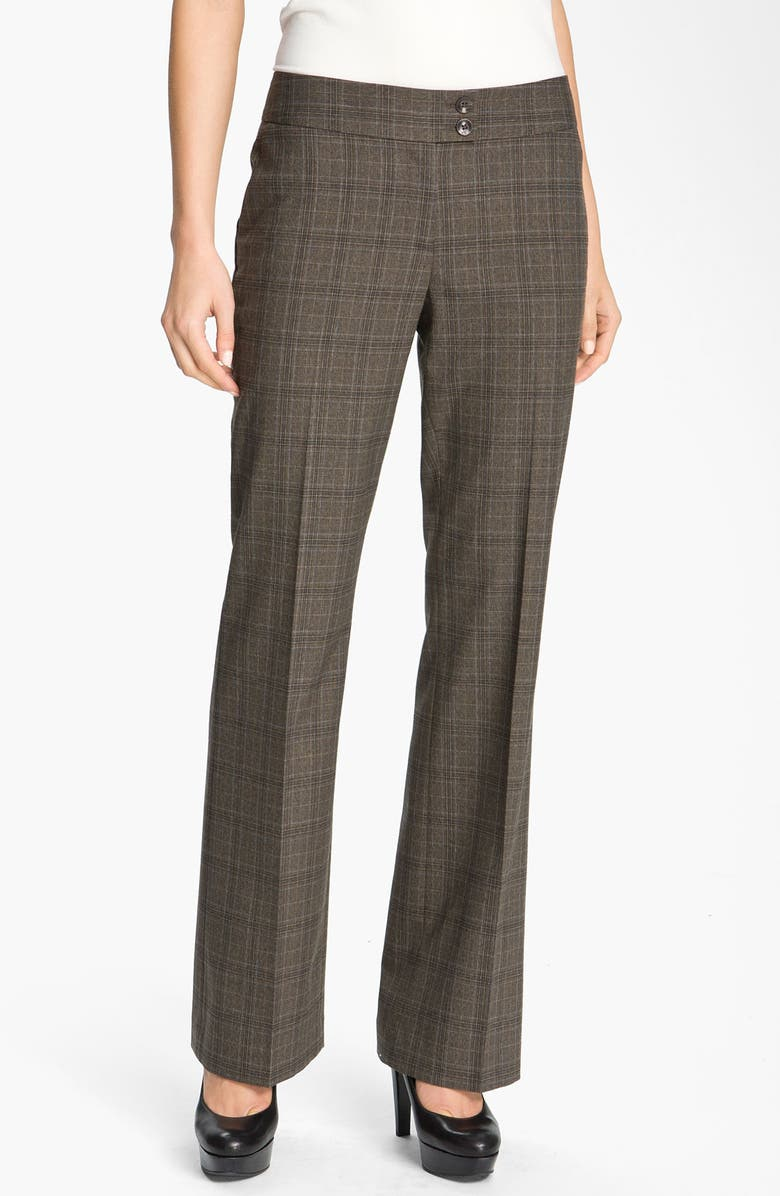 HALOGEN<SUP>®</SUP> 'Quinn' Plaid Straight Leg Pants, Main, color, 200
