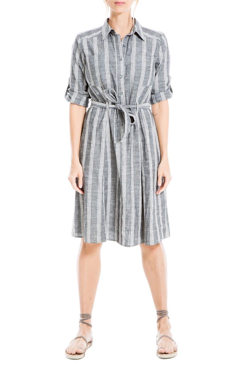 Max Studio Stripe Print Women's Shirtdress
