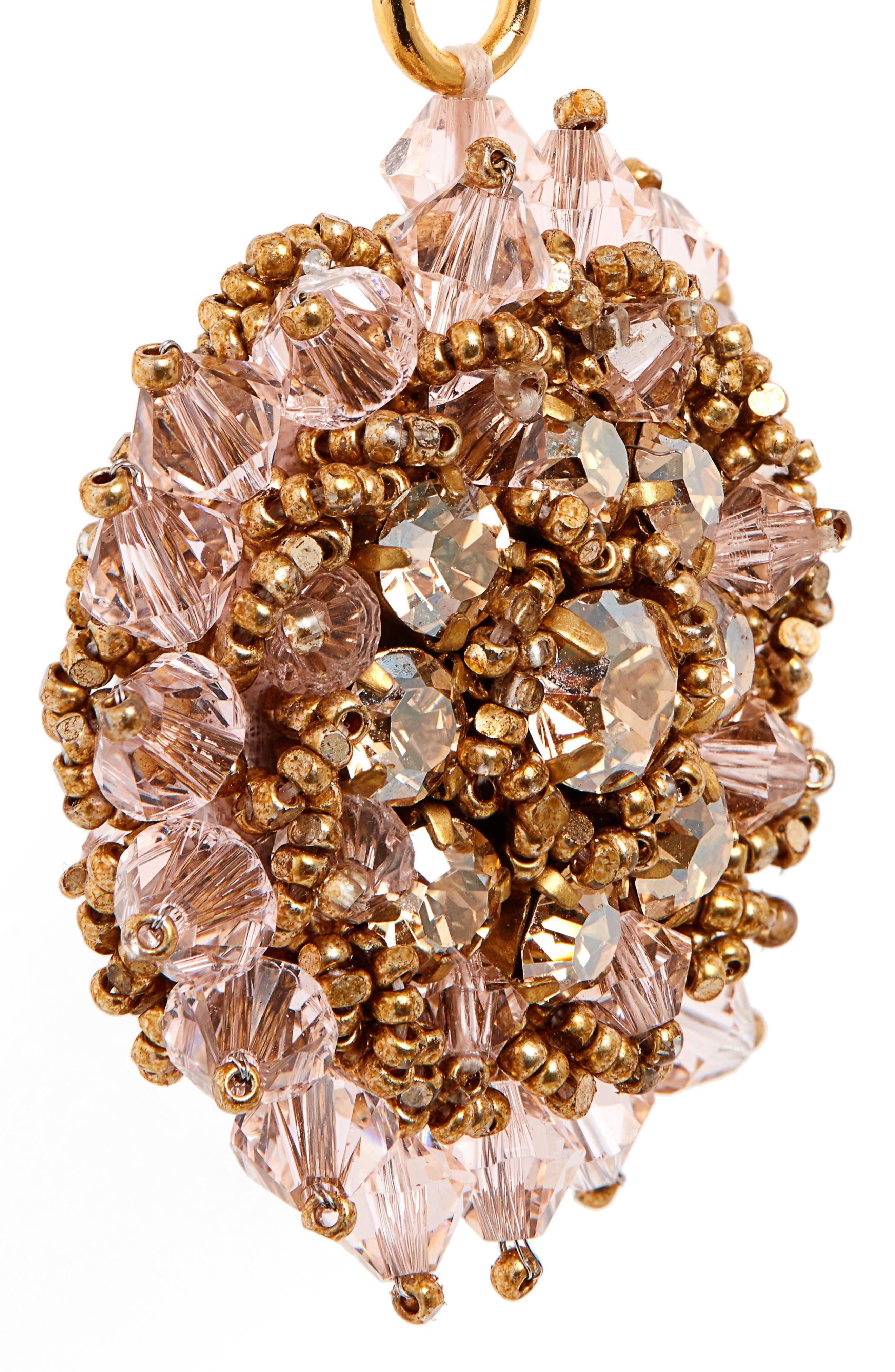 ,                             Beaded Crystal Drop Earrings,                             Alternate thumbnail 5, color,                             CRYSTAL GOLD SHADOW