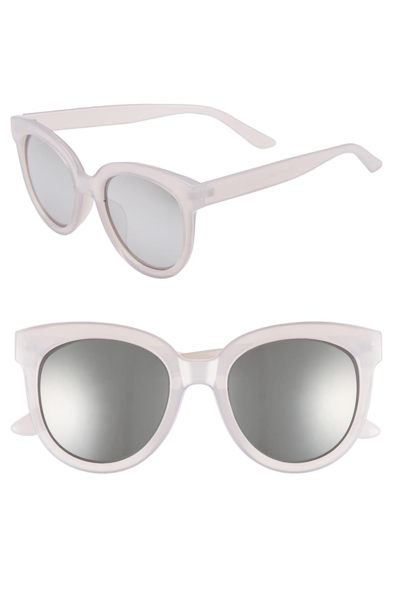BP. 53mm Frosted Cat Eye Sunglasses, Main, color, 050