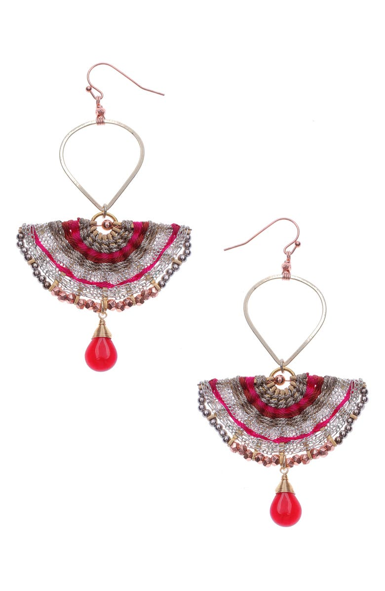 Nakamol Design Half Moon Drop Earrings