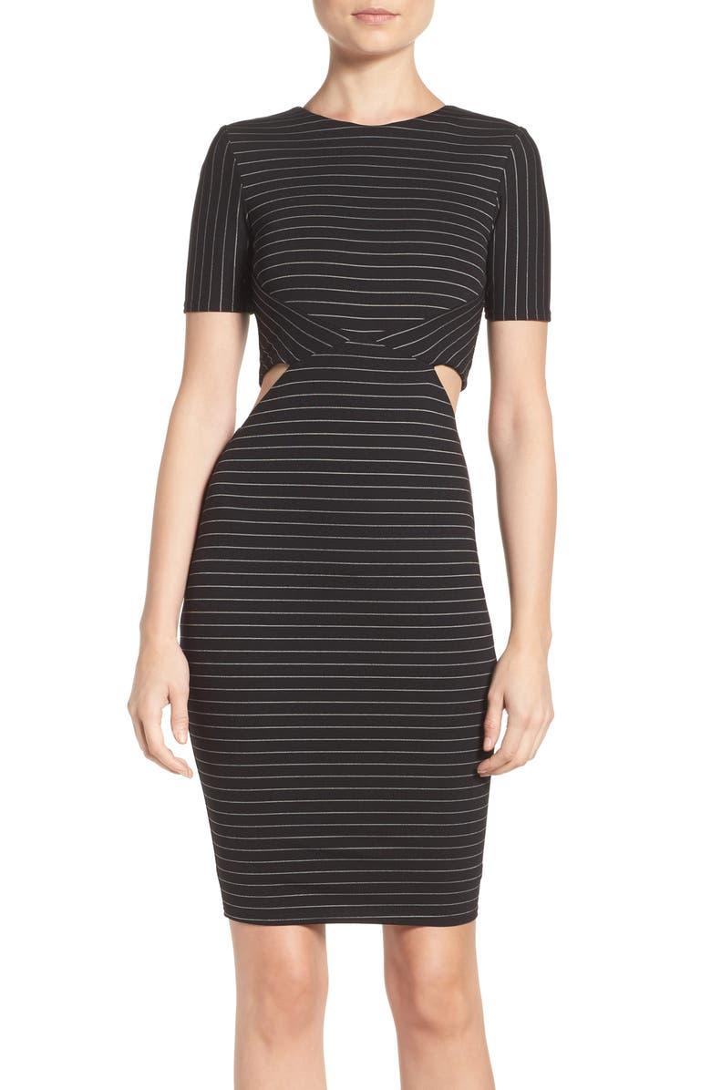 ALI & JAY Cutout Body-Con Dress, Main, color, 001