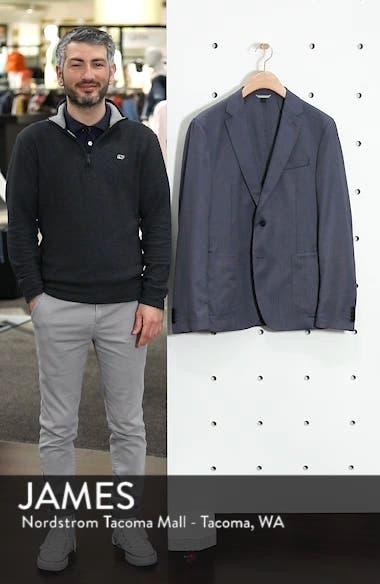 BOSS Hooper Trim Fit Solid Wool Blend Sport Coat, sales video thumbnail