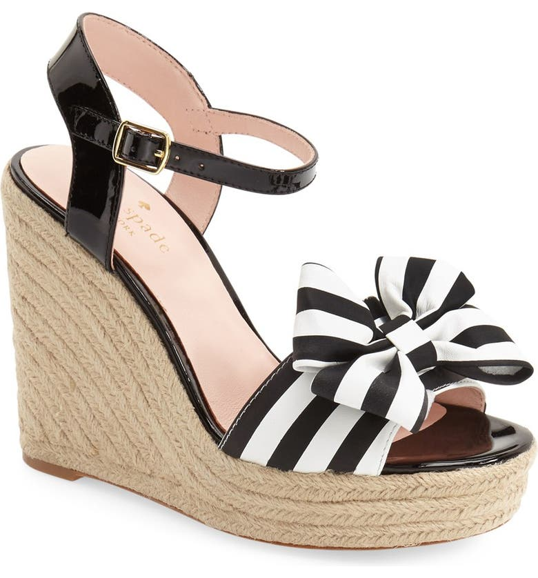 KATE SPADE NEW YORK 'darya' wedge sandal, Main, color, 019