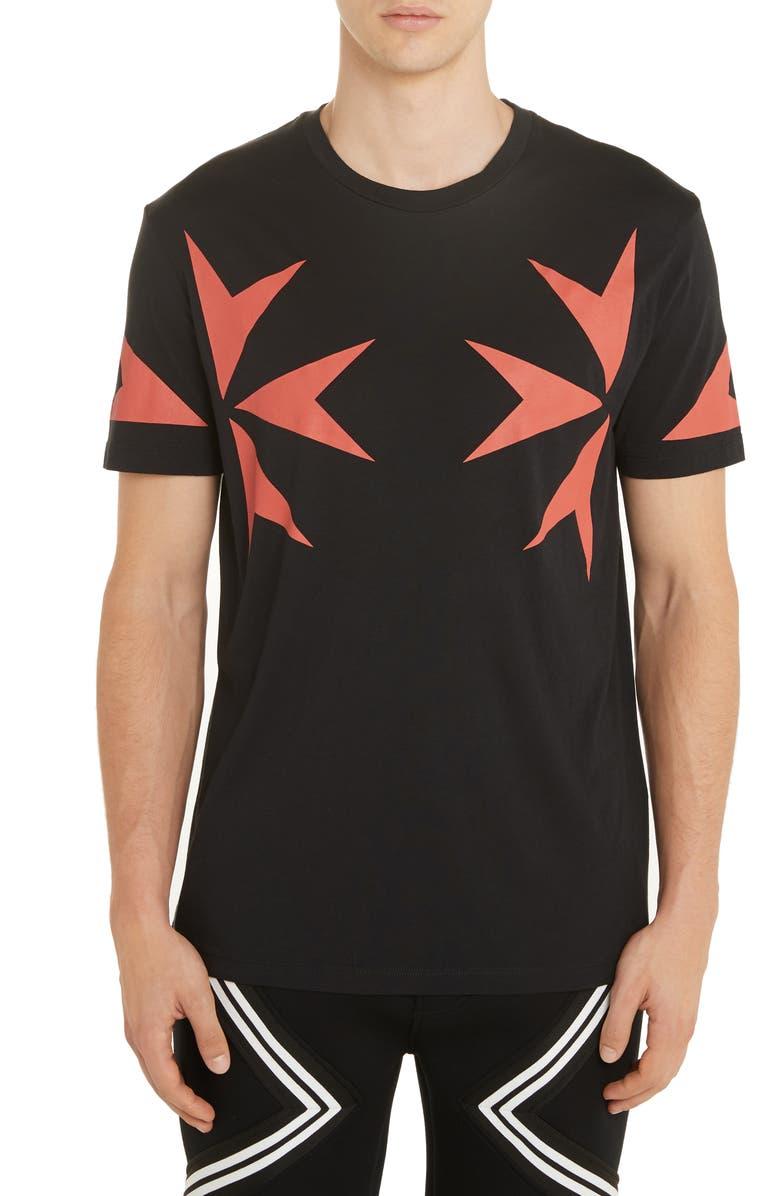 NEIL BARRETT Cross Graphic T-Shirt, Main, color, BLACK/ RED