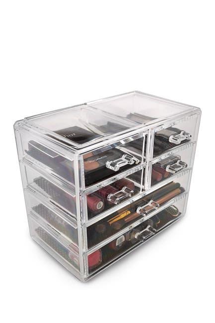 Image of Sorbus Acrylic 6 Drawer Cosmetics Makeup & Jewelry Storage Case Display