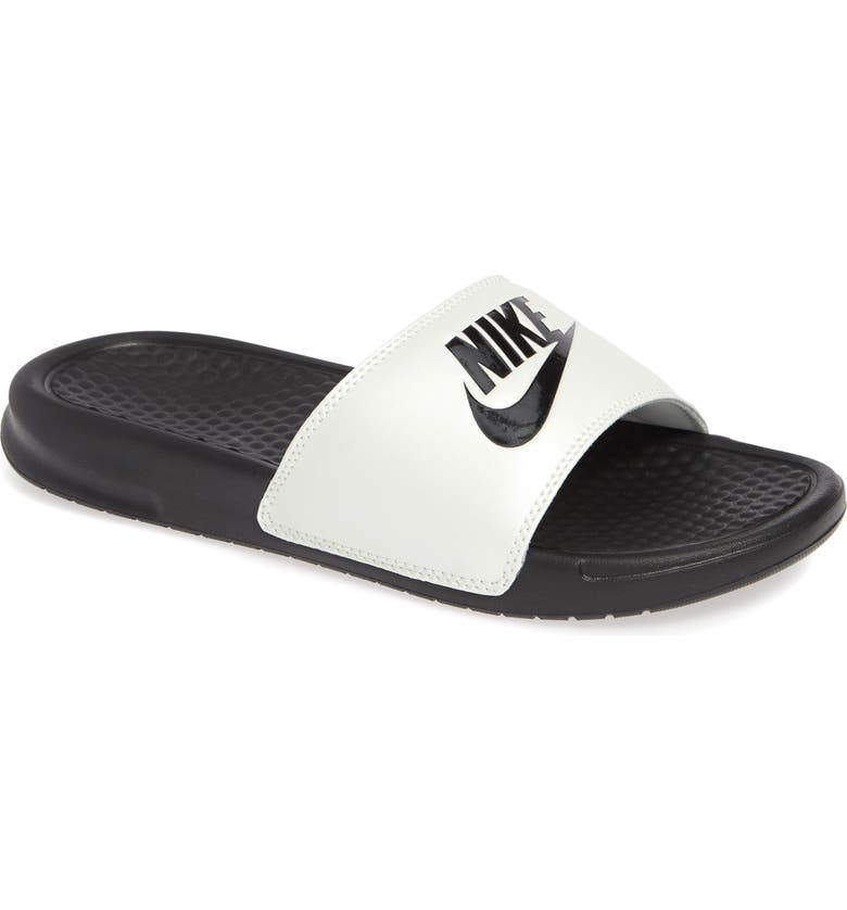 NIKE Benassi JDI Slide Sandal, Main, color, 001