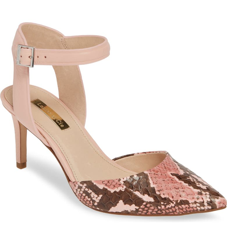 LOUISE ET CIE Kota Ankle Strap Pump, Main, color, PRIMROSE PRINT LEATHER