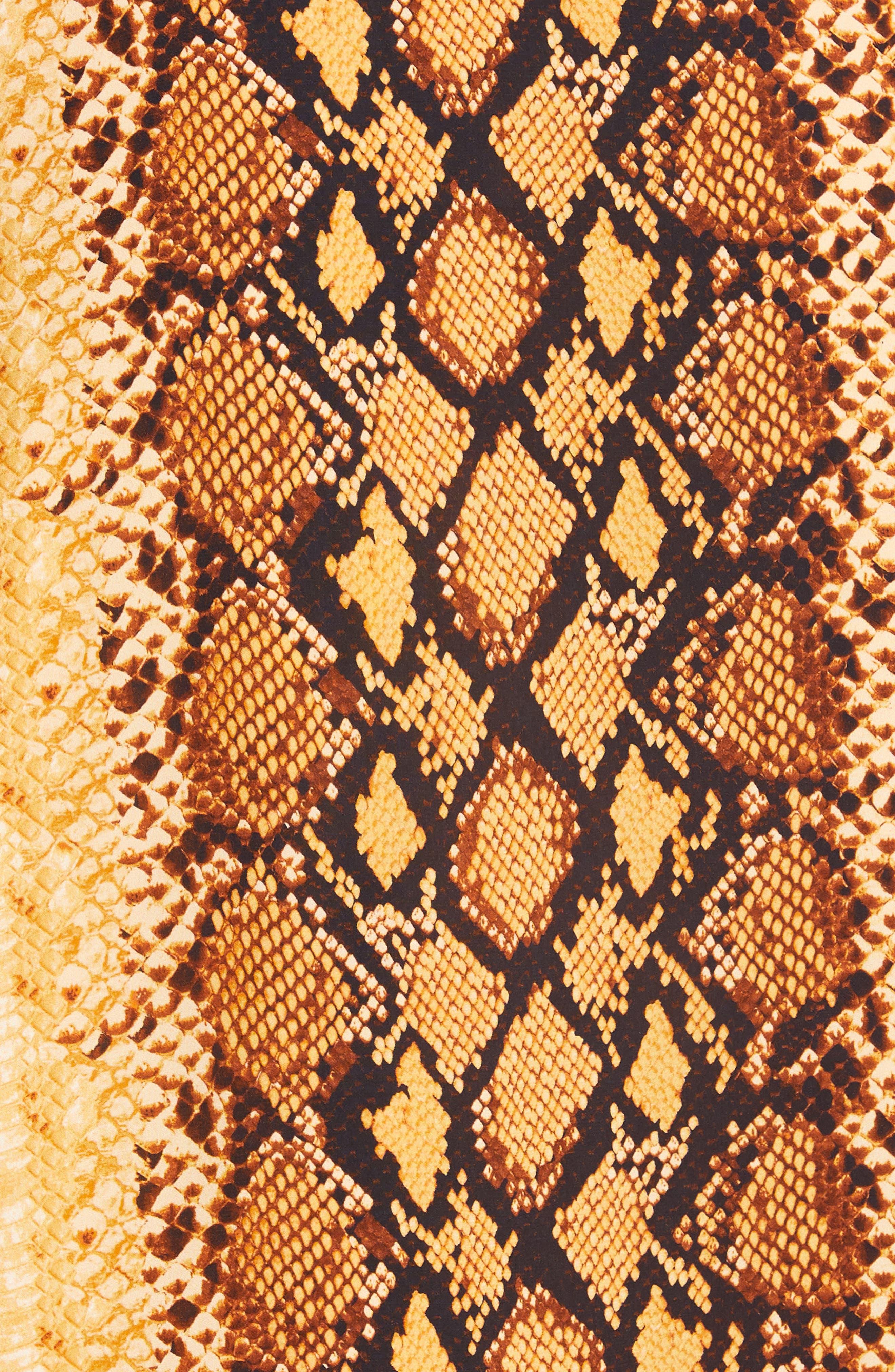 ,                             Bethwyn C Snakeskin Print Wrap Style Dress,                             Alternate thumbnail 6, color,                             720