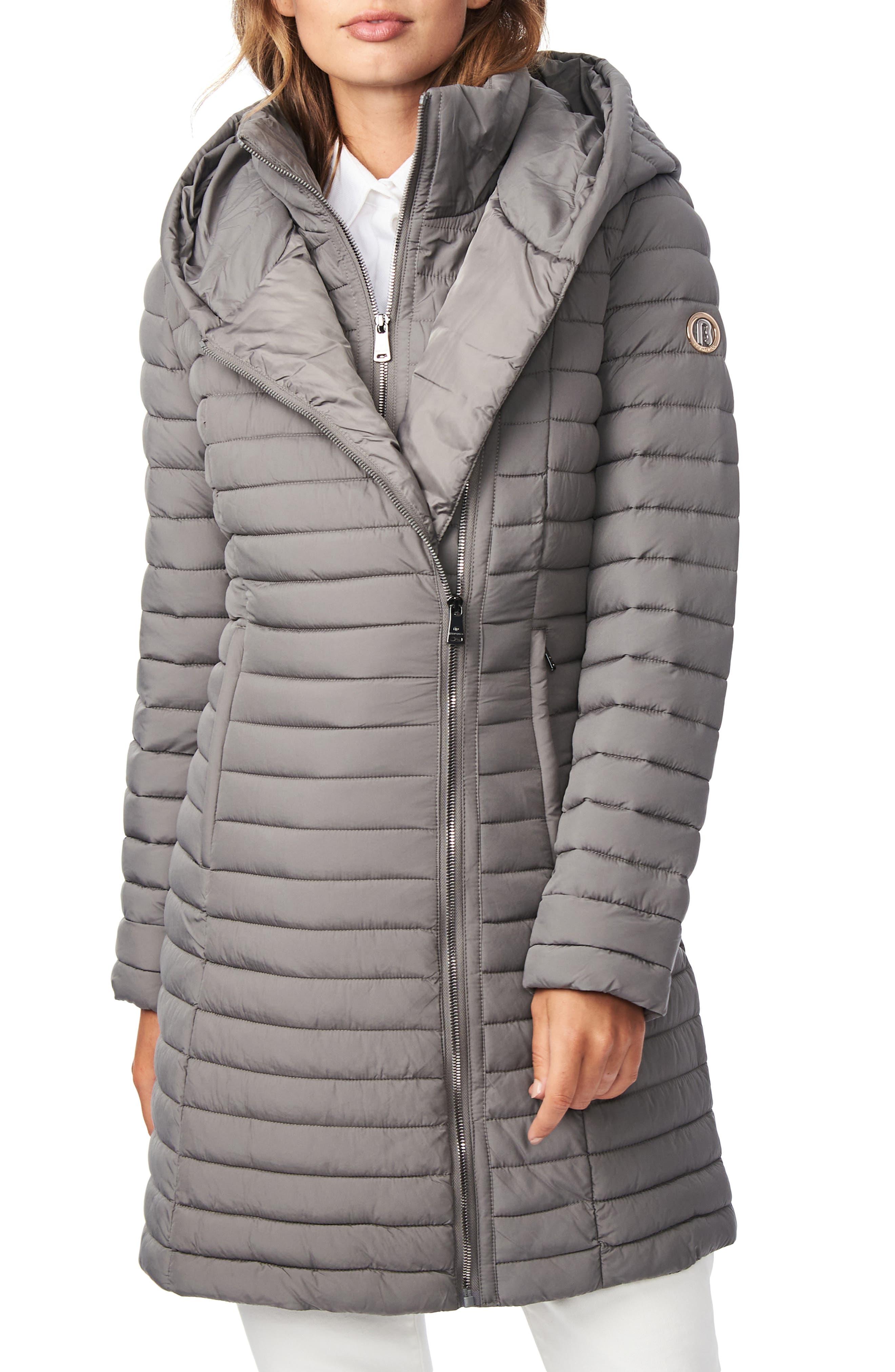 Quilted Water Resistant Packable Walker Coat