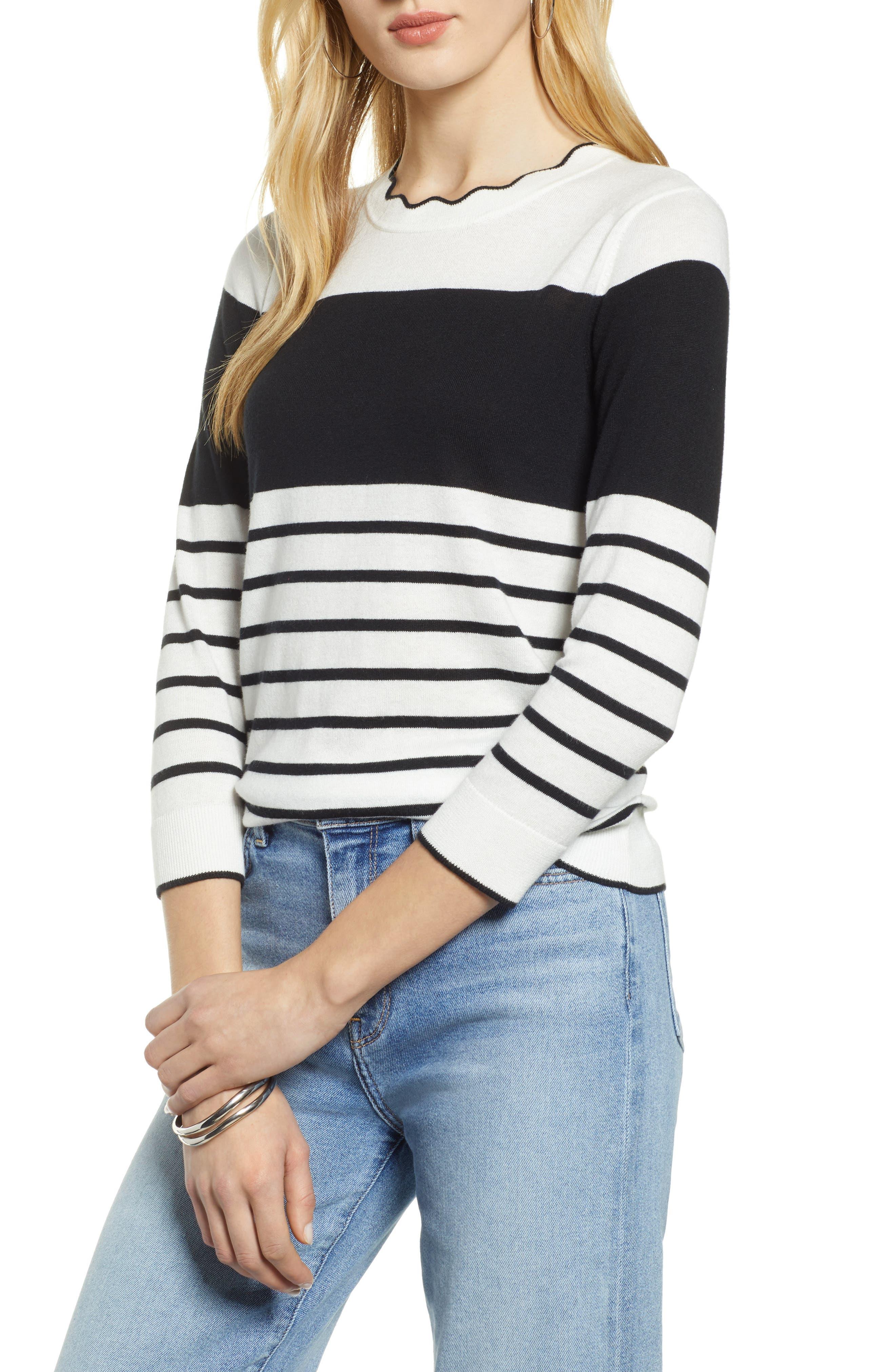 Scallop Neck Sweater, Main, color, 900
