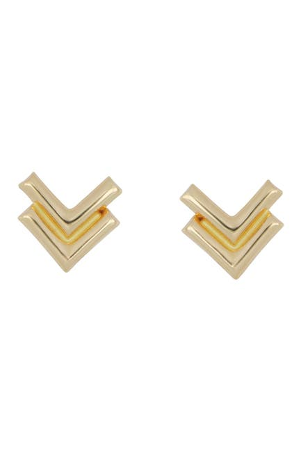 Image of Bony Levy 14K Yellow Gold Petite Bow Tail Stud Earrings