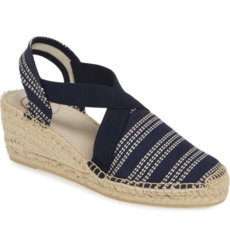 TONI PONS 'Tarbes' Espadrille Wedge Sandal, Main, color, PACIFIC FABRIC