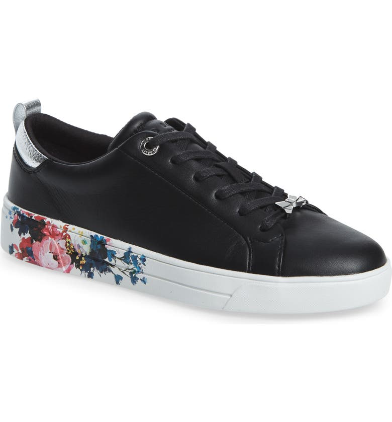 TED BAKER LONDON Roully Sneaker, Main, color, BLACK LEATHER