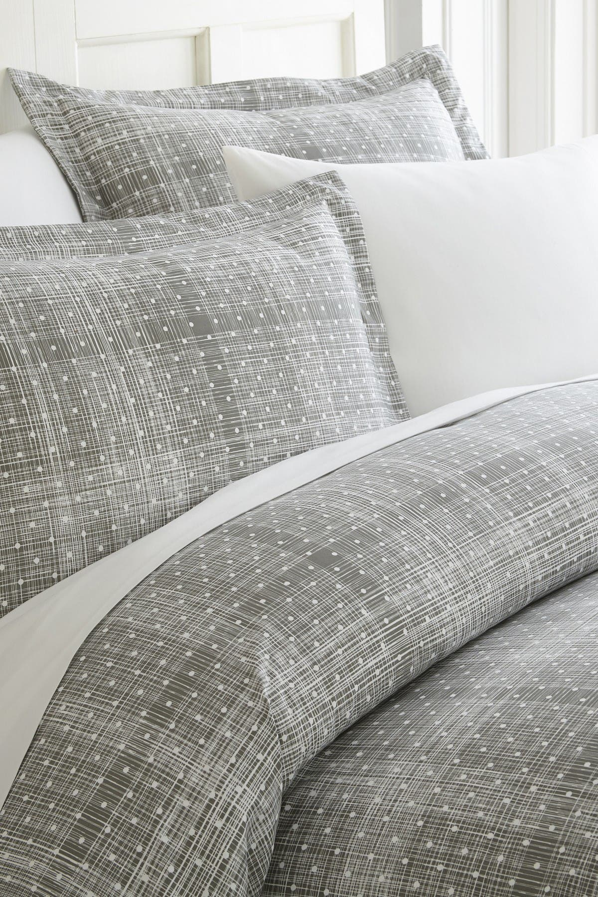 Ienjoy Home Home Spun Premium Ultra Soft Polka Dot Pattern 3 Piece Duvet Cover King Set Gray Nordstrom Rack