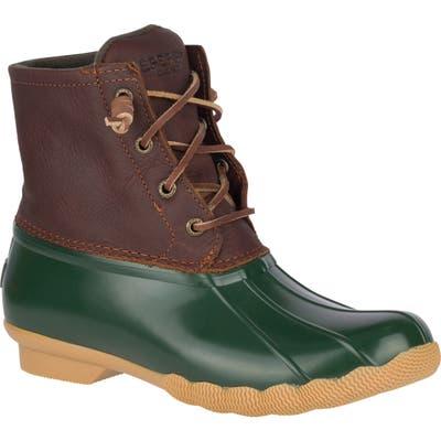Sperry Saltwater Waterproof Rain Boot- Brown