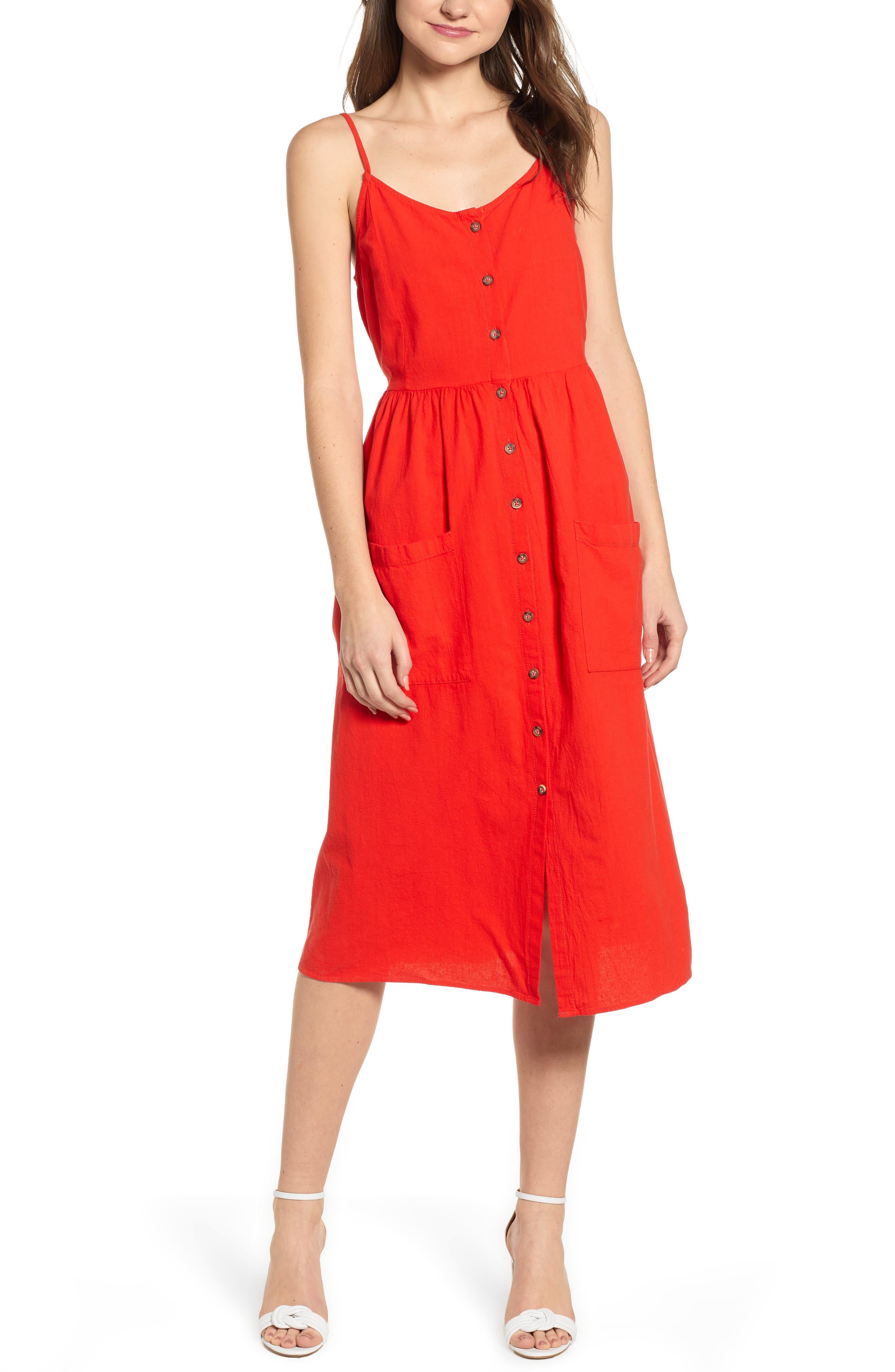 Vero Moda Wanda Sleeveless Dress, Red