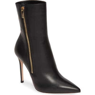 Gianvito Rossi Side Zip Bootie, Black