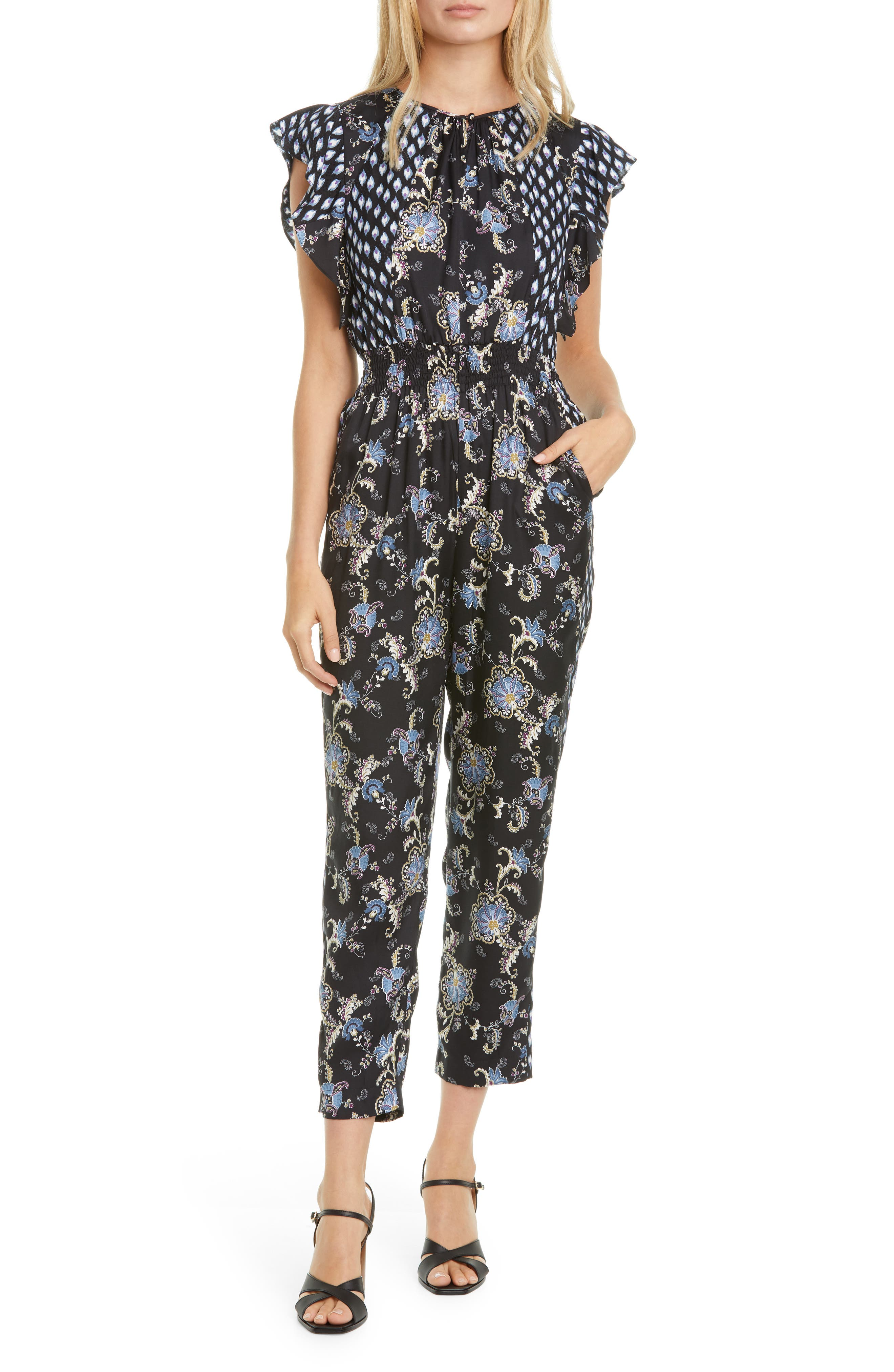 Image of Rebecca Taylor sleeveless paisley jumpsuit