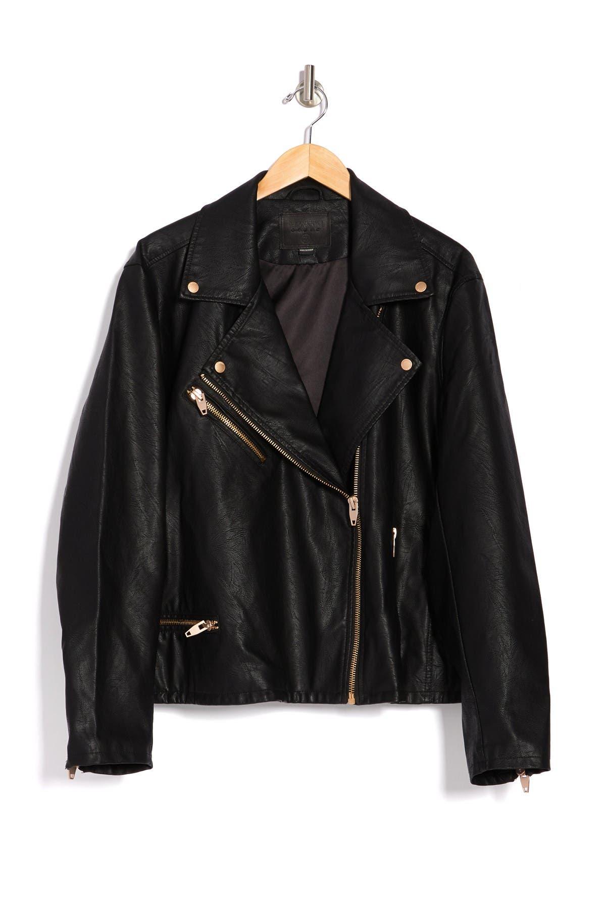 BLANKNYC Denim Zip Moto Jacket